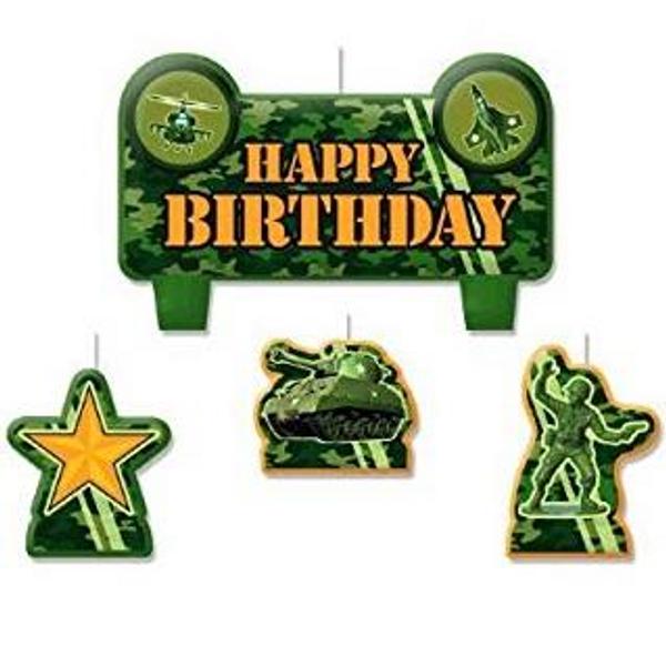 WW@ Army Birthday candles set