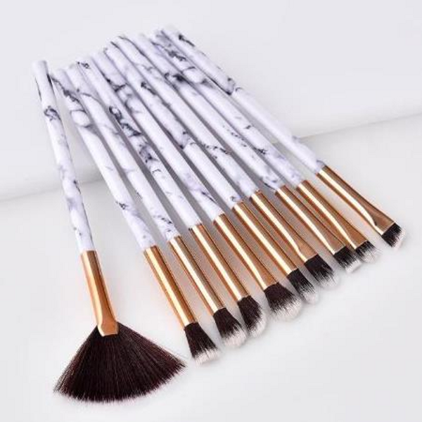 10pc Marble Soft Brush Set