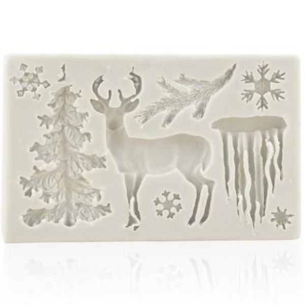 Christmas Woodland Theme Silicone Mold