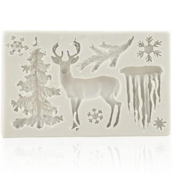 Christmas Woodland Theme Silicone Mold