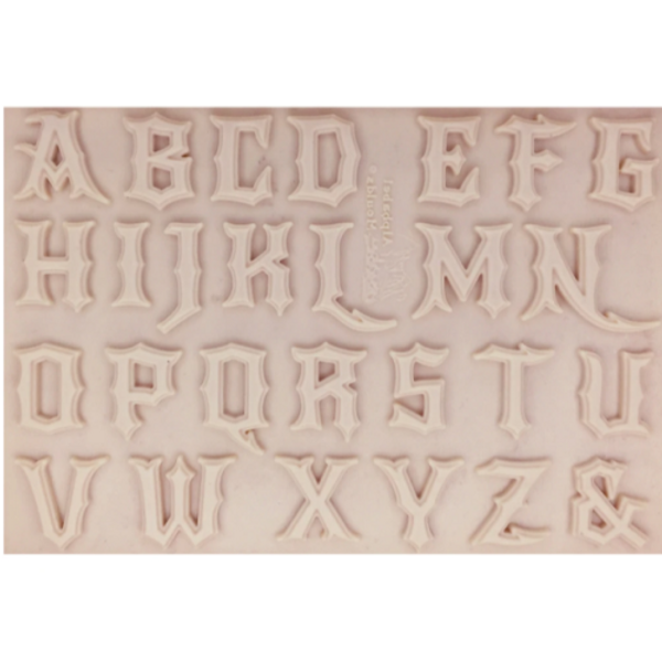 MEDIEVAL UPPERCASE Alphabet Silicone Mold