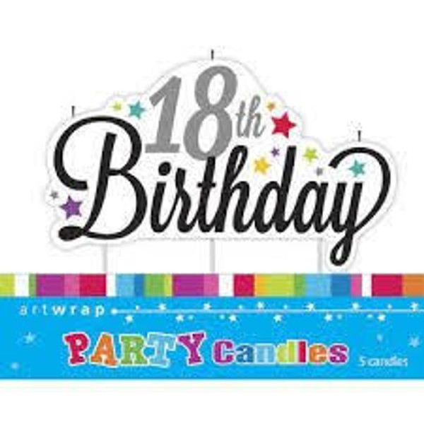 Artwrap Party Candles - 18th Birthday
