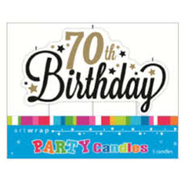 Artwrap Party Candles - 70th Birthday