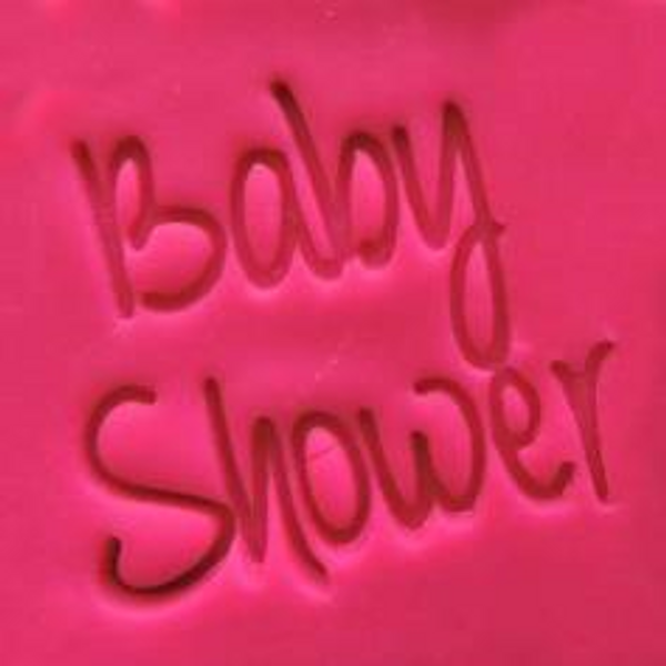 Cookie Embosser - 'Baby Shower'