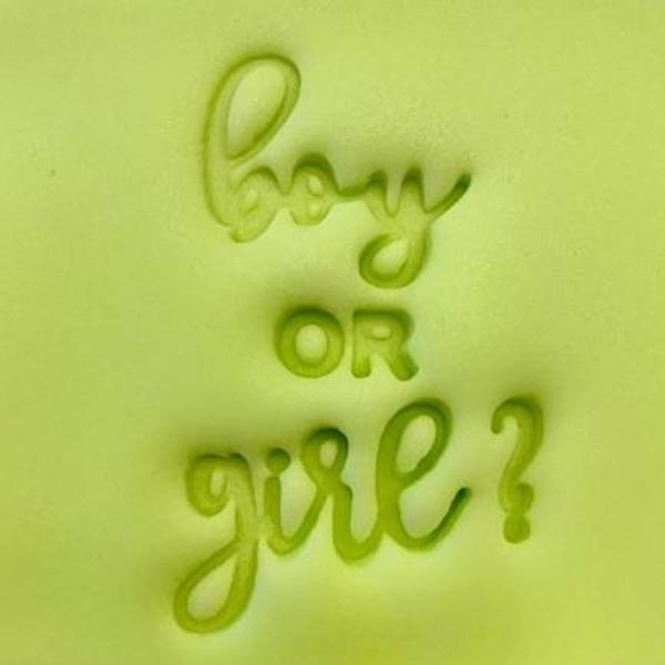 'Boy or Girl' EMBOSSER