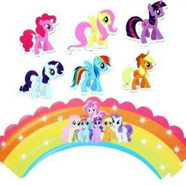 Cupcake Wrap & Toppers 12pc - My Little Pony