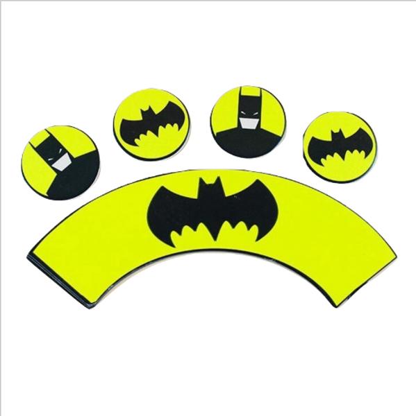 Cupcake Wrap & Toppers 12pc - Batman