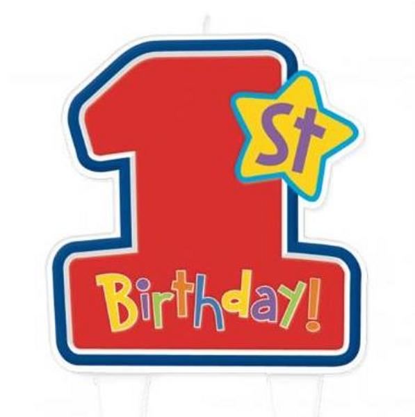 1st Birthday Candle- Boys
