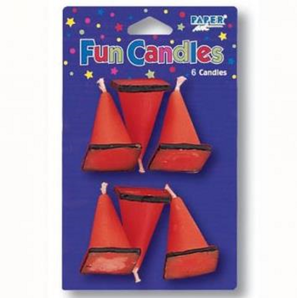 Construction Birthday Candle 6pc