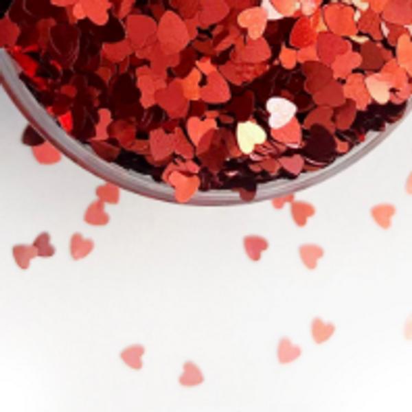 Edible Glitter Hearts