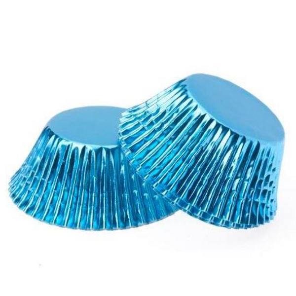 Foil Metallic Cupcake Cases 25pk - BLUE