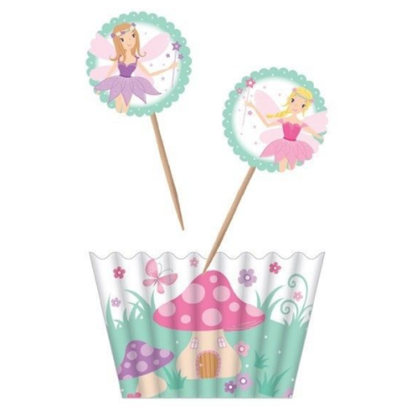 Cupcake Kit Art Wrap 12 Cups & Toppers - Fairies