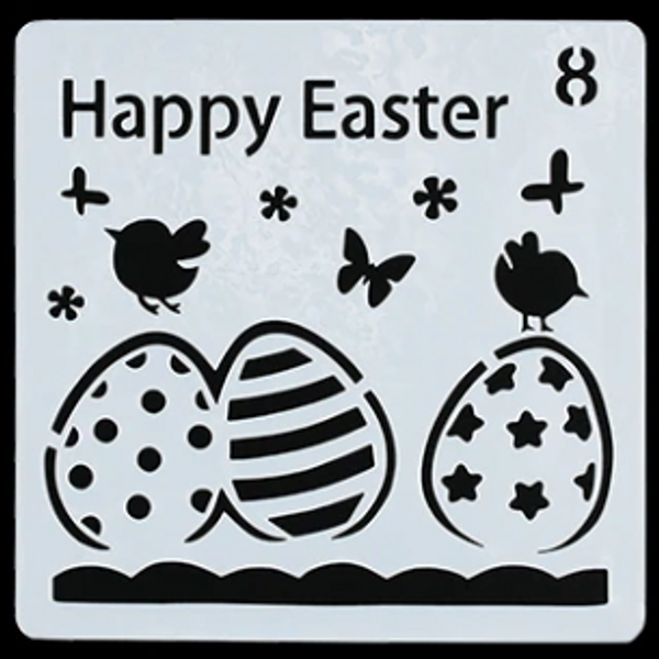 Easter Stencil Style 8