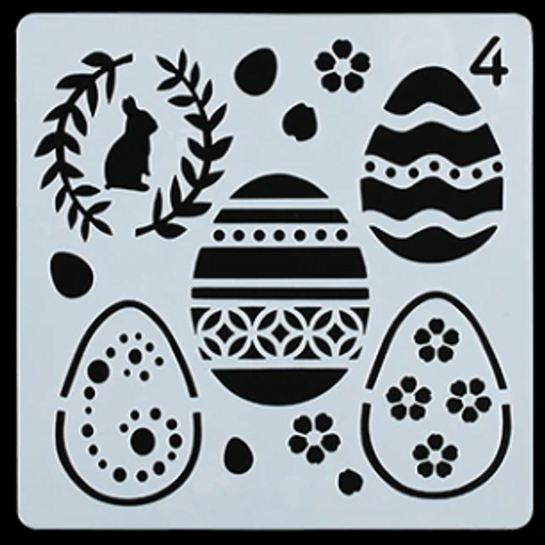 Easter Stencil - Style 4