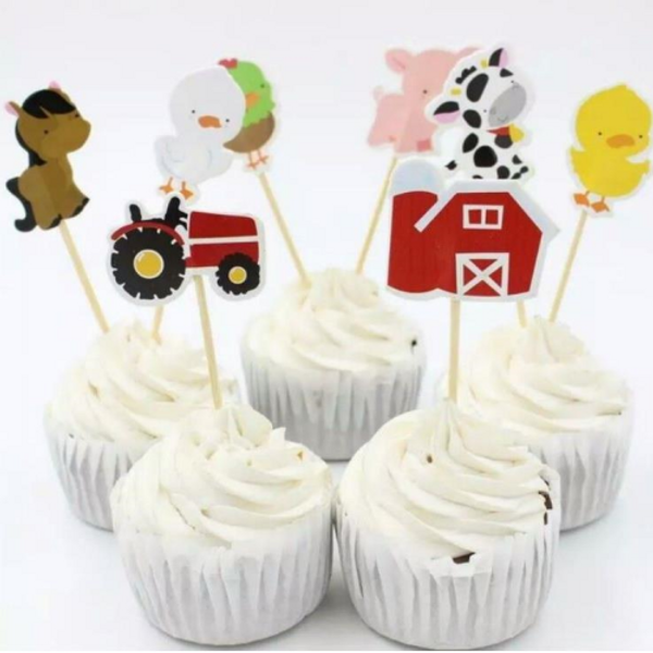 Farm Themed Toppers 24pc