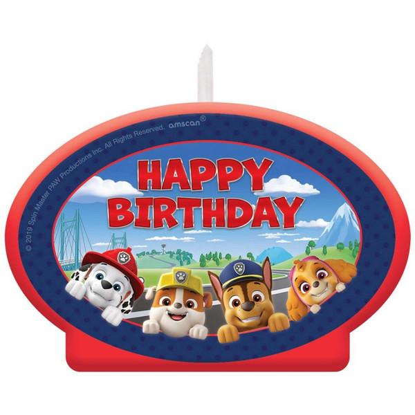 Birthday Candle - Paw Patrol Adventures