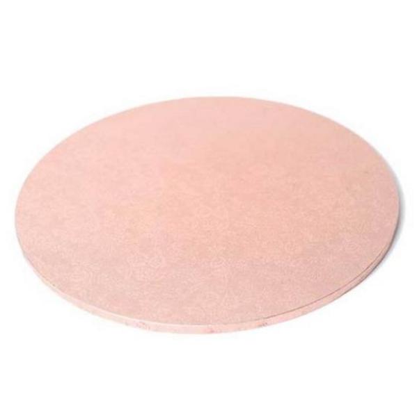 "Round Masonite Cake Board - ROSE GOLD 9"" / 22.5cm"