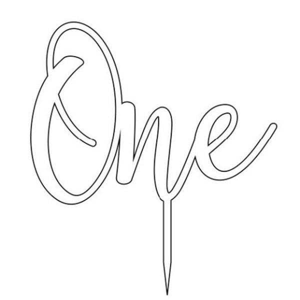 Cake Topper ONE (Age Script) - GOLD