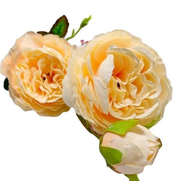 Silk Rose Spray - APRICOT