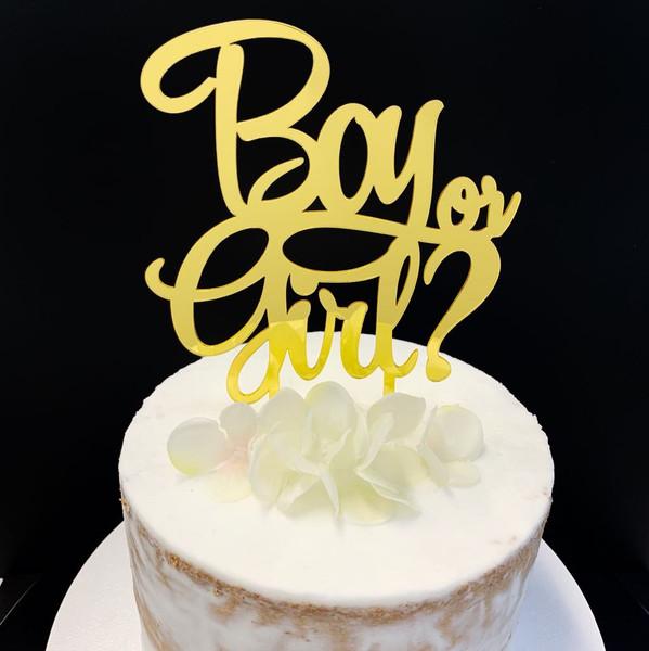 Acrylic Topper BOY OR GIRL - GOLD