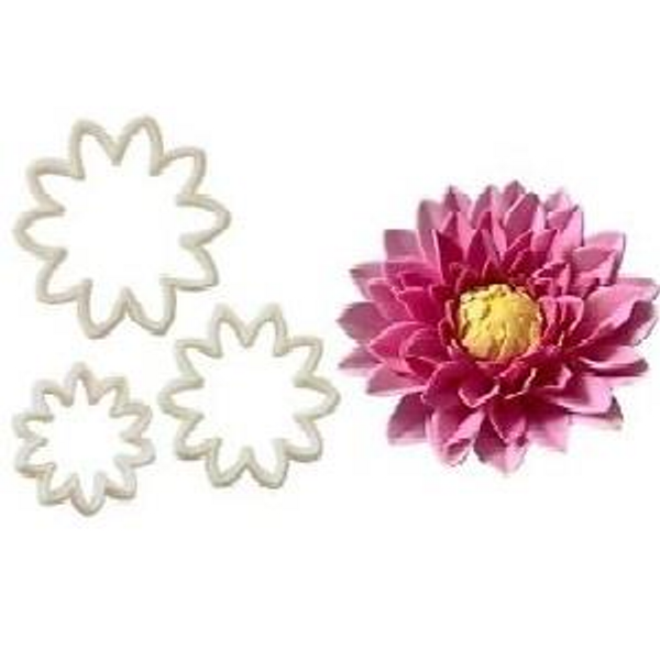 Chrysanthemum/ Dahlia Plastic Cutter 3pc