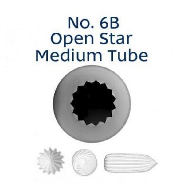 Piping Tip Open Star - 6B