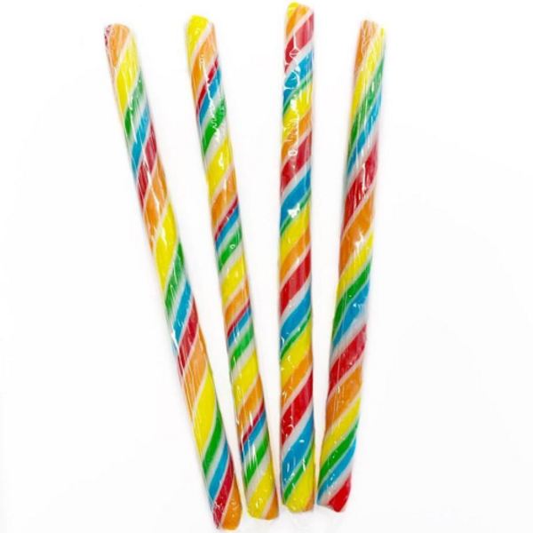 Candy Stick Rainbow and White - Small