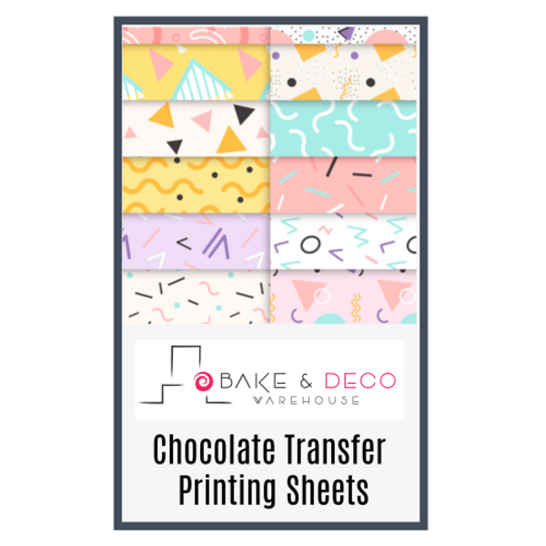 BLANK Chocolate Transfer Sheets 10 pack