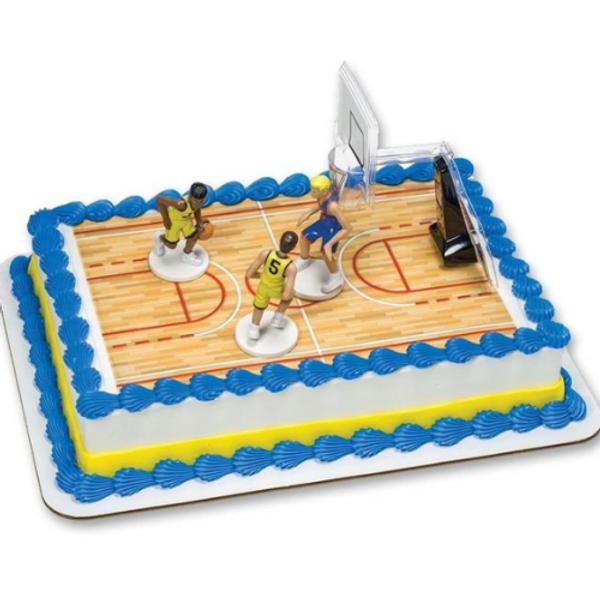 Cake Topper - Plastic Basketball 4pc Set