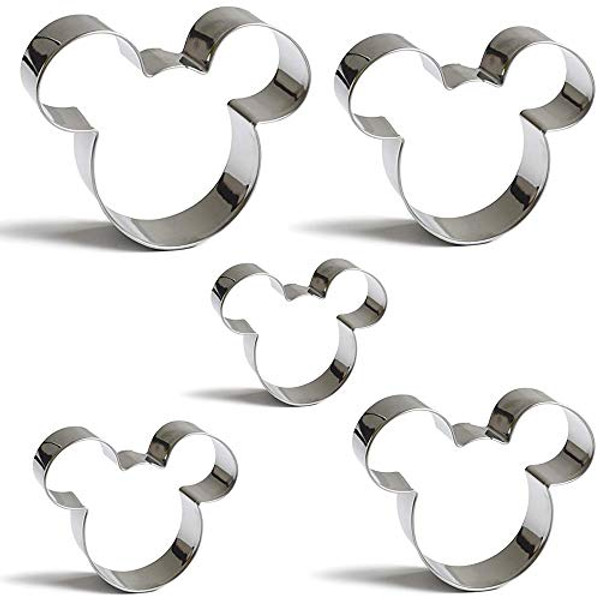 Stainless Steel Cutter Set 5pc - MICKEY/MINNIE