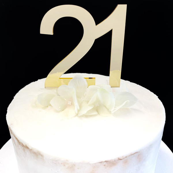 Cake Topper '21' 8.5cm - GOLD