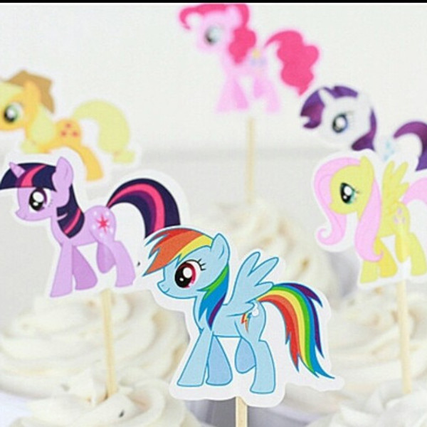 Cupcake Topper 24pc - MY LITTLE PONY