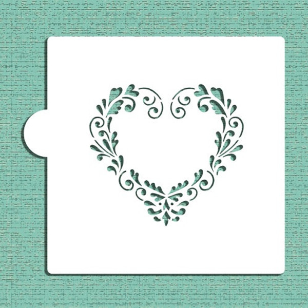 Delft Heart Cookie Stencil CM048 - Designer Stencils