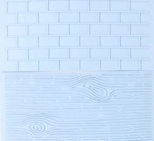 Plastic Embosser - Wood / Brick Pattern