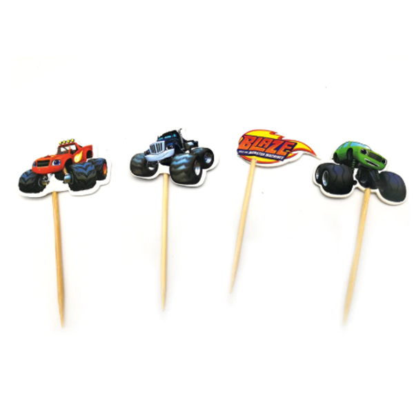 Cupcake Toppers 24 pc - Blaze & The Monster Machines