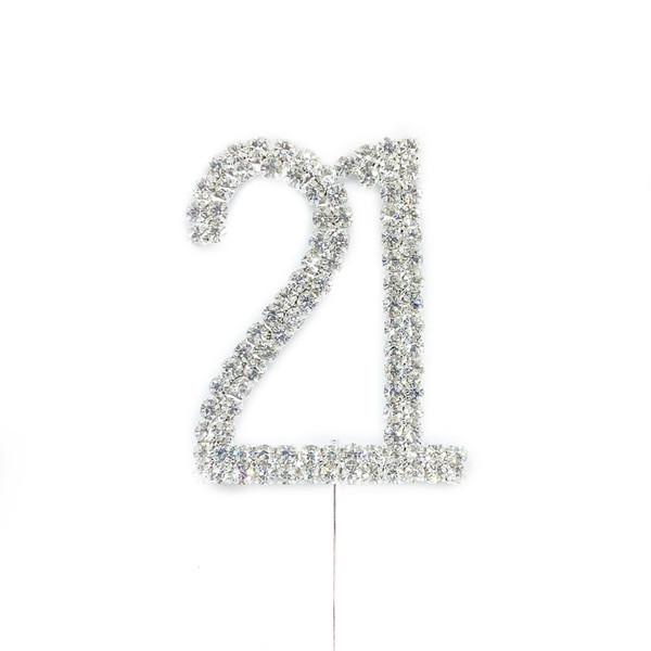 Diamonte Silver Topper 5cm - 21
