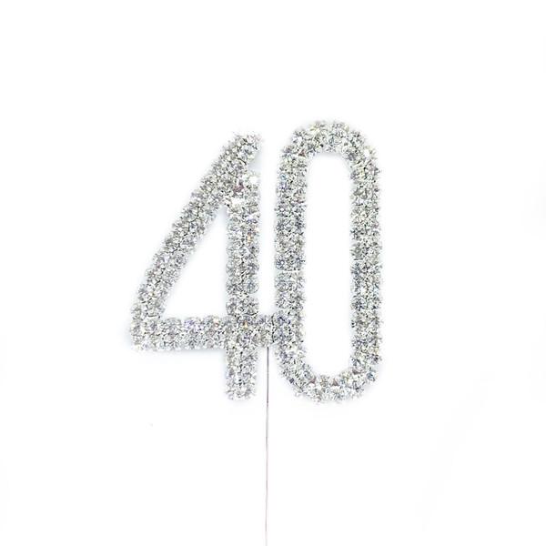 Diamonte Silver Topper 5cm - 40