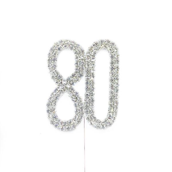 Diamonte Silver Topper 5cm - 80