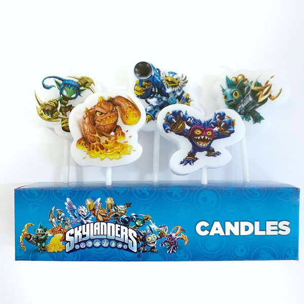 Birthday Candles 5pc - Skylanders
