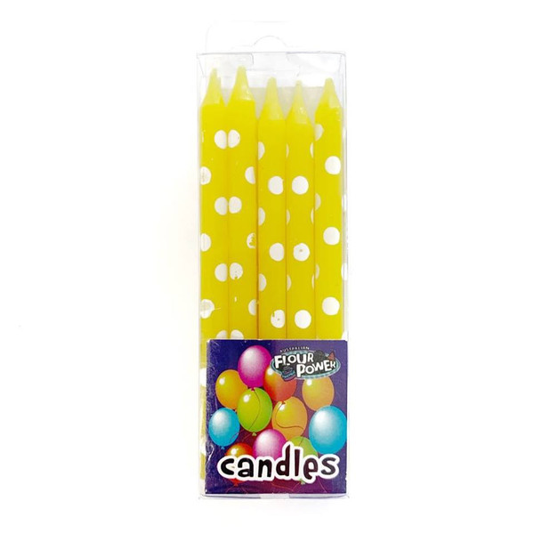Birthday Candles Spots 10pc - Yellow