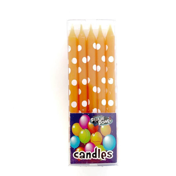 Birthday Candles Spots 10pc - Orange