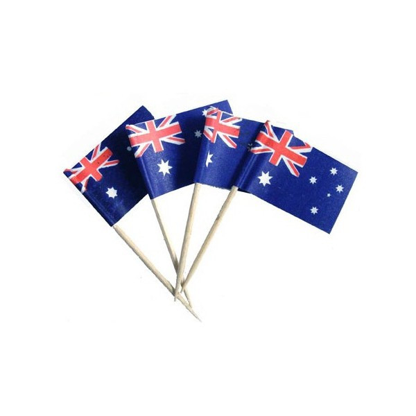 Assorted Decor Picks 24pc - Australian Flag