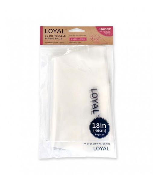 BIO Disposable piping bags 18in/46cm - CLEAR