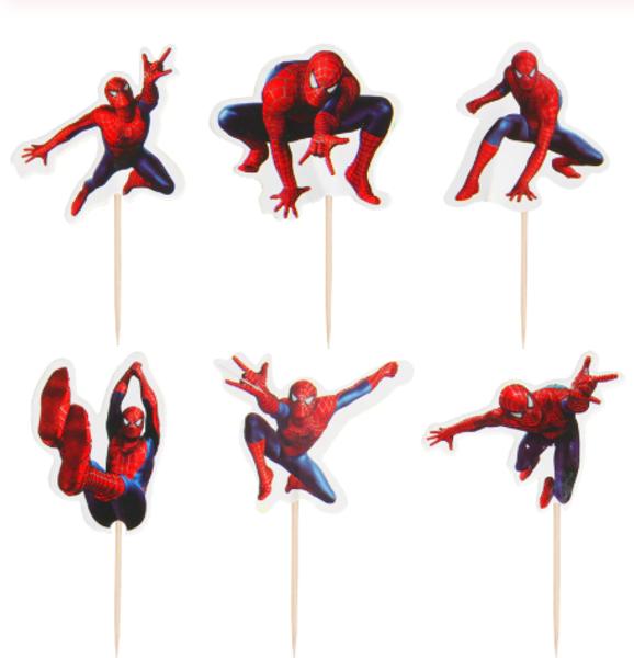 Cupcake Topper 24pc - Spiderman