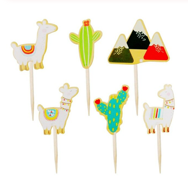 Cupcake Toppers 24pc - Fiesta Theme