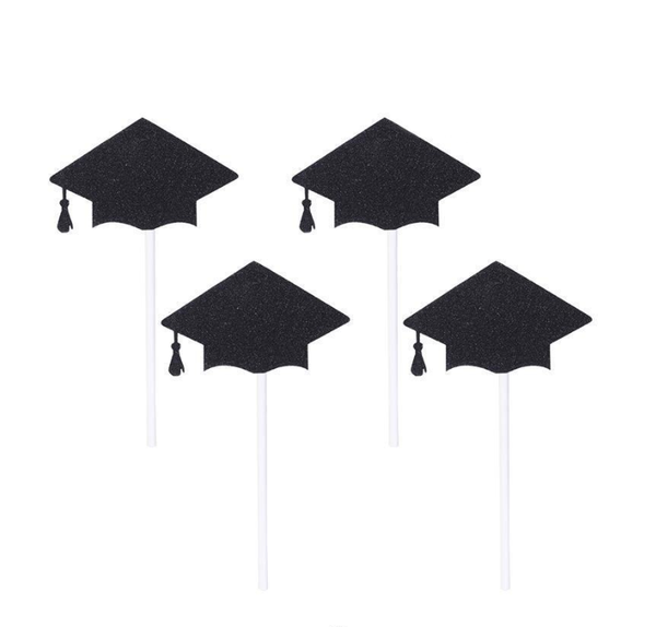 Cupcake Toppers 10pc - GRADUATION HATS