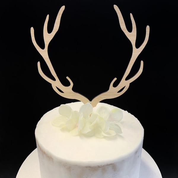 Cake Topper 'Reindeer Antlers' - BAMBOO