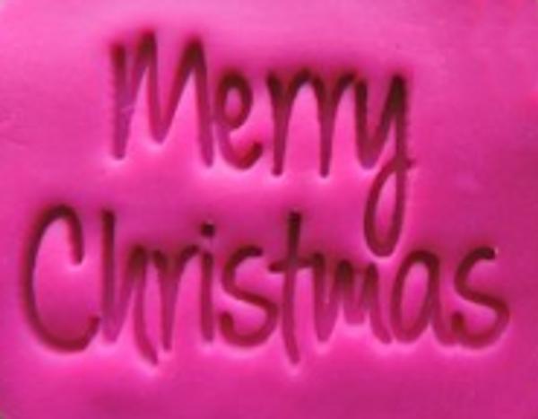 Cookie Embosser - 'Merry Christmas'