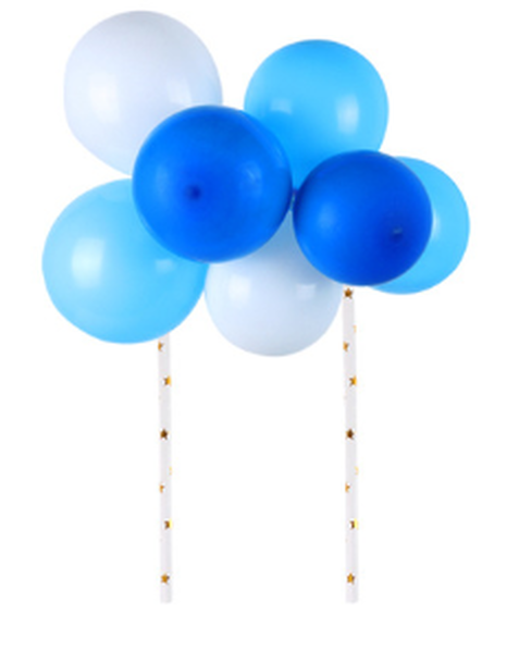 Cake Topper - Balloons - Blues