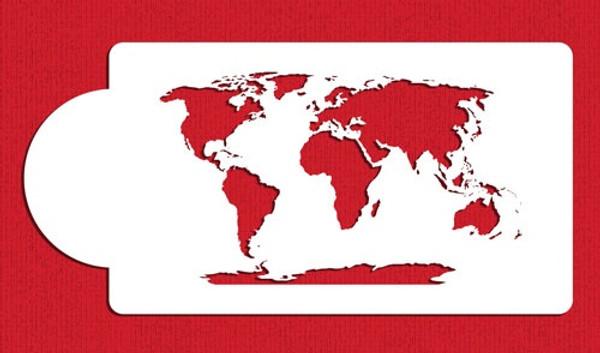 World Map Cake Stencil